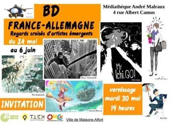 """affiche du festival de BD """"France Allemagne"""" de Maisons Alfort 2017"""