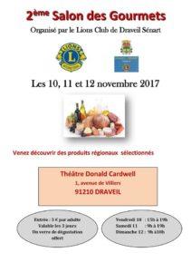 affiche du salon des gourmets - Lions Club de Draveil