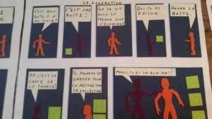 planche créée par les élèves de INJA