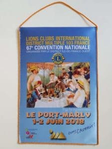 fanion de la convention nationale du Lions Clubs de France